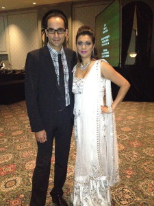Getting Ready to Emcee Miss India Canada 2013 with Mohit Rajhans