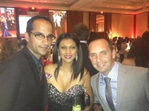 Mohit Rajhans and Frankie flowers from Breakfast Television at the Hello Canada Tiff Party Sept 2013