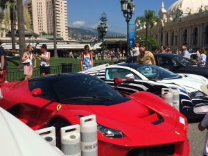 Exotic cars parked outside the Casino