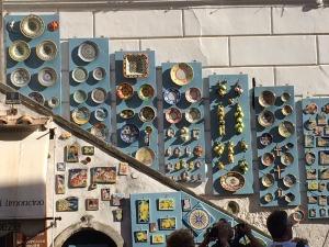 artwork displayed on walls