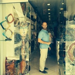 My parents purchased some beautiful art work for me a few years ago at this store.   The most unique pieces I have ever seen made out of Murano glass  Every time they visit Santorini they always drop in to say hello.