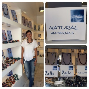 Natural Materials is the name of the store.  Its located right outside the cable car entrance