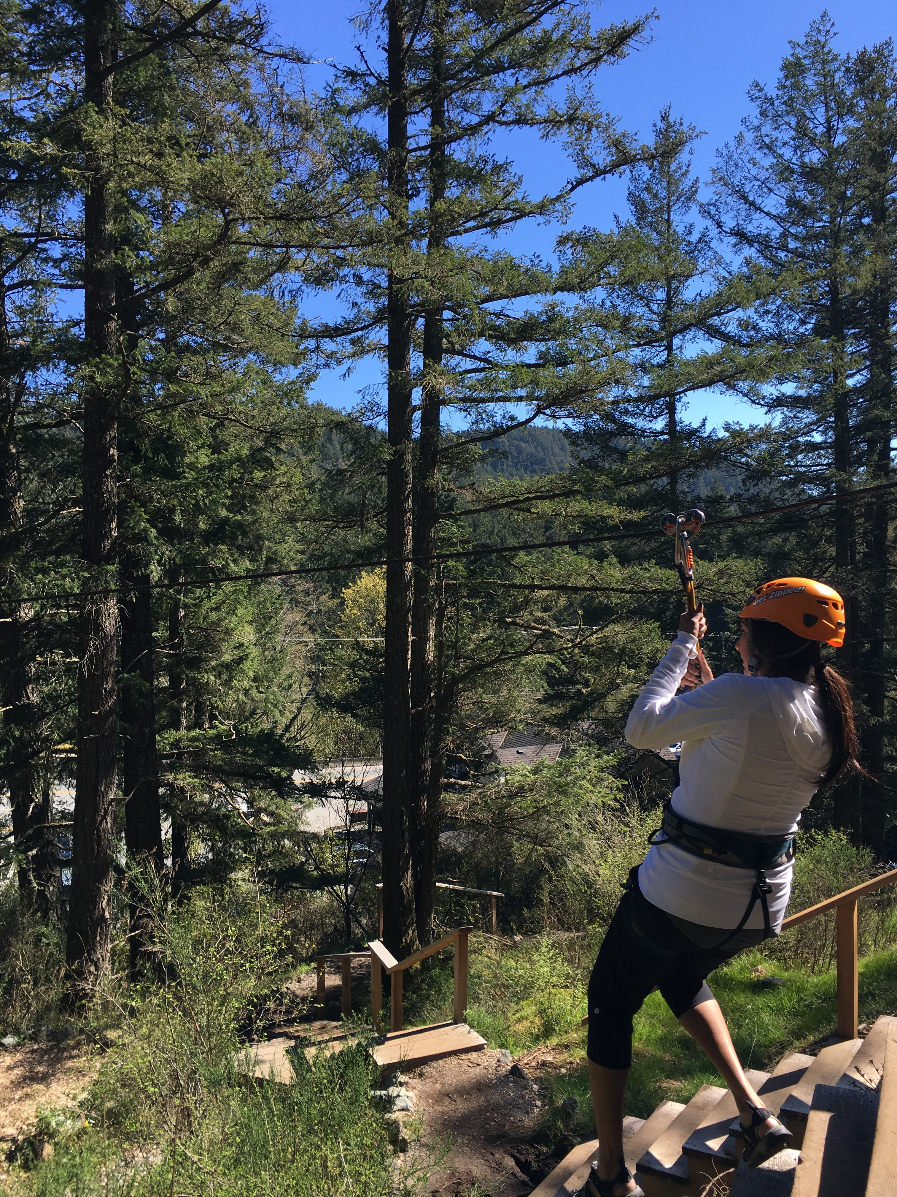 out of my comfort zone zip lining