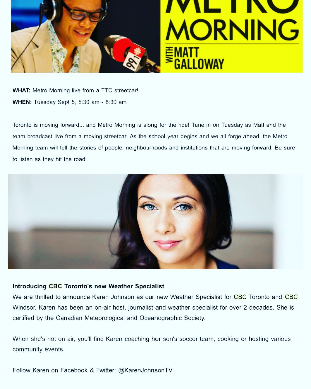 CBC Announcement